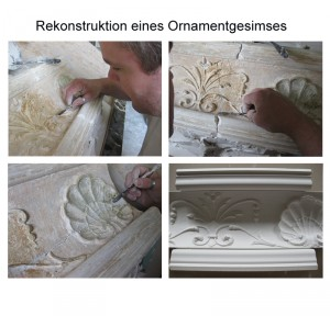 Restauration Stuckgesimse