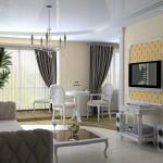 Pilaster und Stuckgesims im Wohnbereich